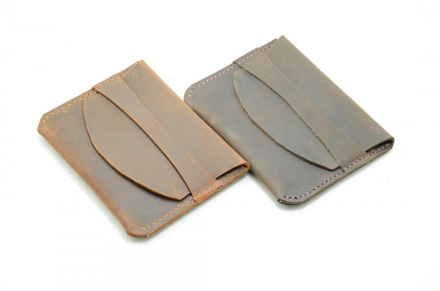 Wedding - Groomsmen Bridesmaids Gifts Minimalist Wallet Leather, Credit Card Wallet, Father's Day Gift, Gift for Dad, Father's Day, Gift for Husband