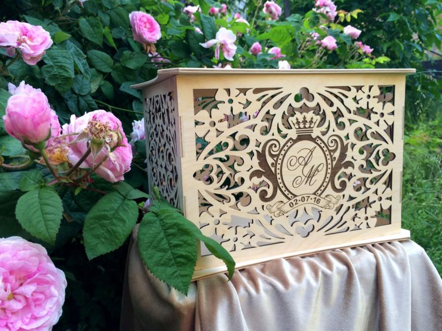 Personalised Wooden Wedding Money Box Savings Box Wedding Card – Wedding Money Card Box