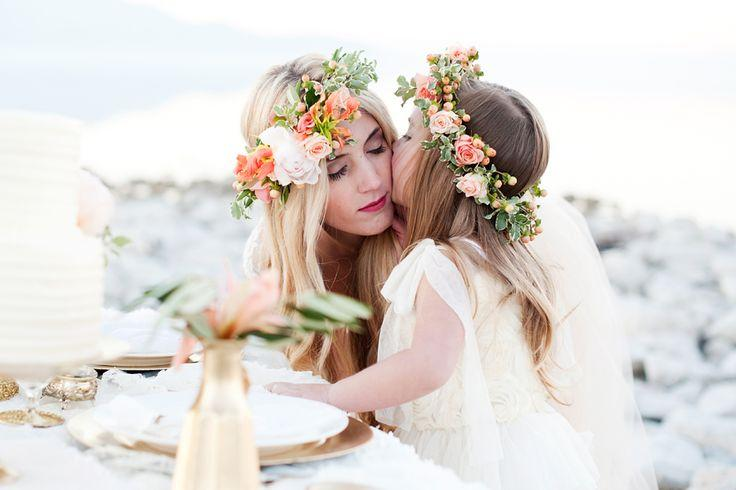 Wedding - Gold   Peach Mother & Daughter Bridal Inspiration