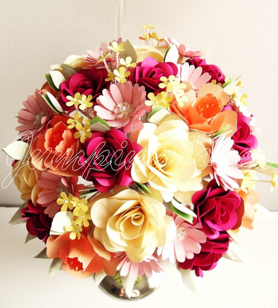 Mariage - Traditional Paper Flower Bouquet