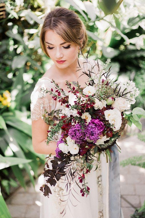 Wedding - Vintage Botanical Wedding Bouquet