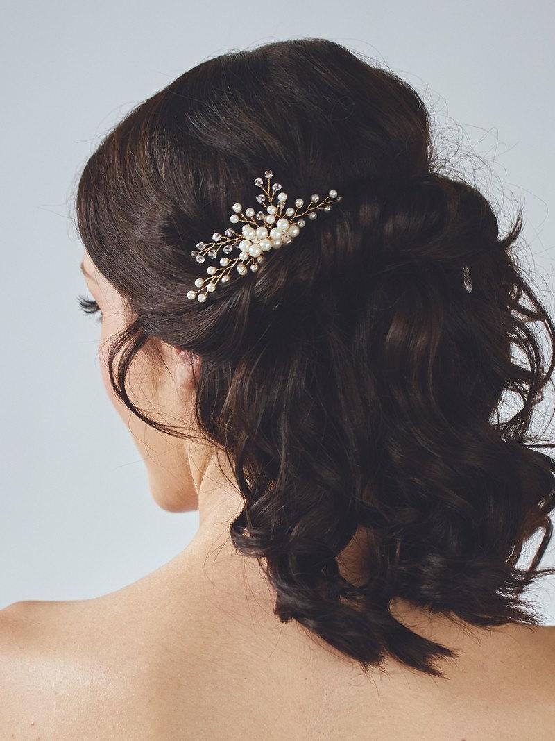 Свадьба - Gold Bridal Headpiece