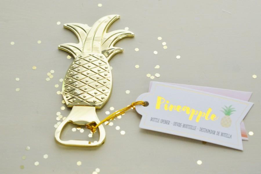 Mariage - Wedding Favor Gold Pineapple Bottle Opener
