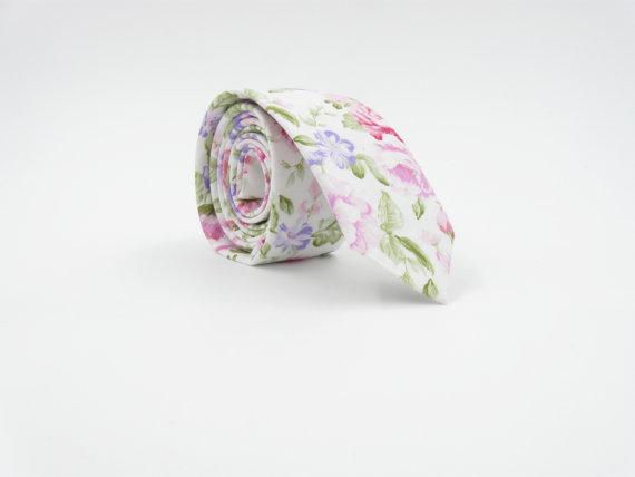 Свадьба - Wedding Tie Floral Ties Groom Outfit Groomsmen Bow Tie Best Man Necktie Father of the Bride Tie Noeud Papillon Avec Fleurs Mariage 結婚式のネクタイ
