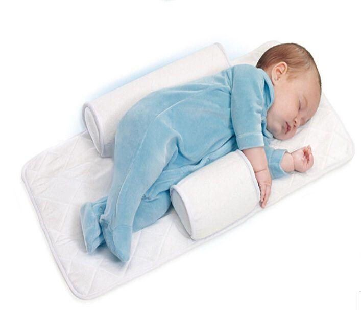 Wedding - 2014Top Quality Newborn Baby Sleep Positioner Infant Anti Roll Pillow With Sheet
