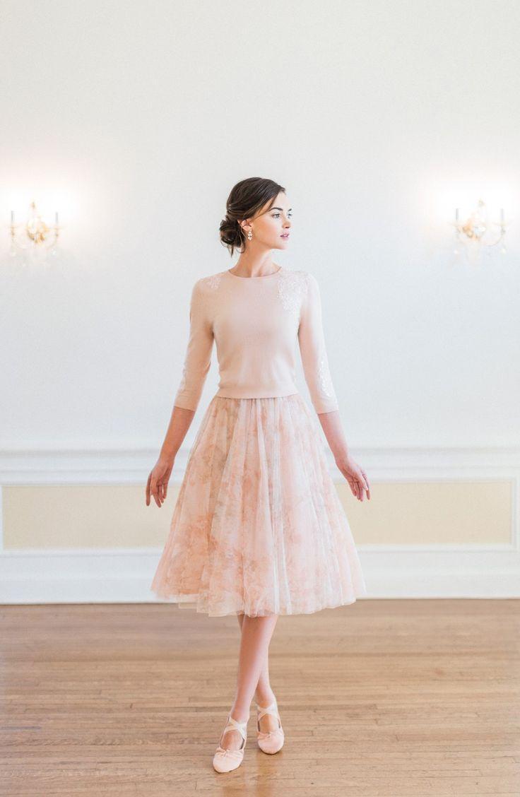 Wedding - Lucy Print Tulle Skirt
