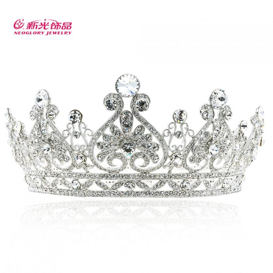 زفاف - Wedding Tiara, Bridal Tiara,Princess Tiara, Floral Crown, Wedding Hair Accessories, Swarovski Crystal, SHA8645