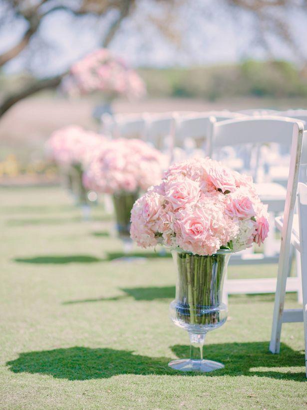 Hochzeit - Pink Flower Centerpiece