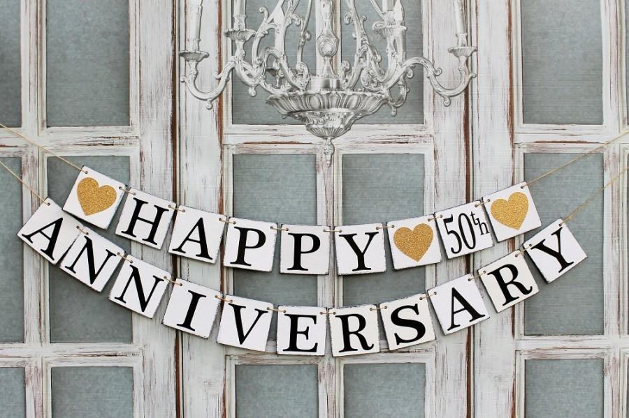 Anniversary Signs Anniversary Party Banners Rustic Decorations