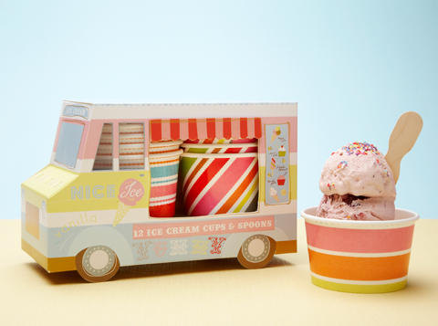 Mariage - ICE CREAM PARTY / Ice Cream Truck, Ice Cream Party Favor, Cupcake Box, Donut Box,  Party, Paper Toy, Centerpiece, Dessert Table Idea