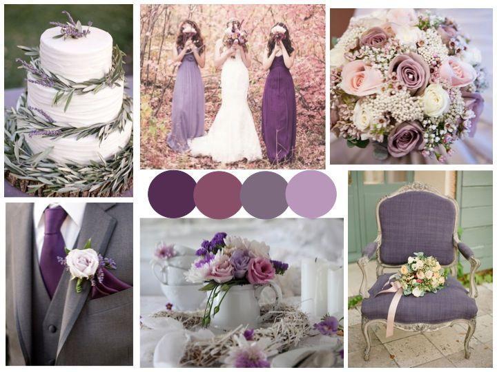 Wedding Theme Lavender Grey And Purple Inspiration