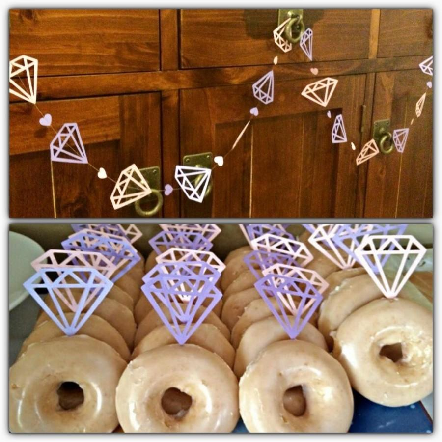 Engagement Party Decor Decorations Bridal Shower Decoration Hens Night Diamond Donut Topper