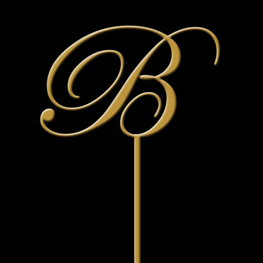 Wedding - Monogram Cake Topper - Initial Wedding Cake Topper -  Gold Monogram Cake Topper - Keepsake Cake Topper