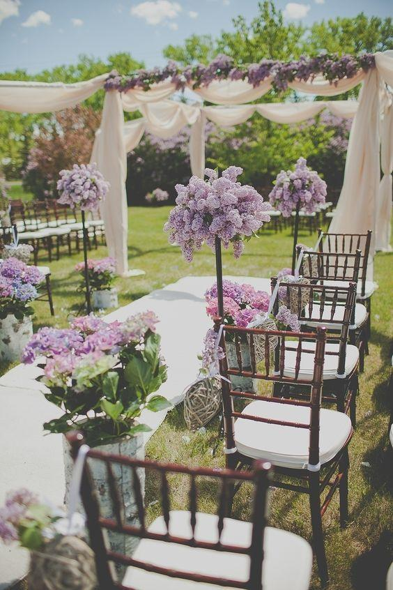 Wedding - Romantic Lilac Outdoor Spring Wedding With Purple Flowers – Shared In The Style Me Pretty Vault