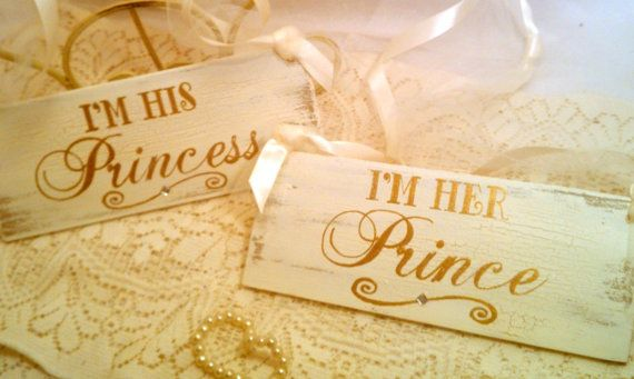 Wedding - Wedding Signs With Crystals Gold Wedding Decorations Set Of 2 Fairytale Wedding Signs, Cinderella Wedding, Royal Wedding Princess Wedding