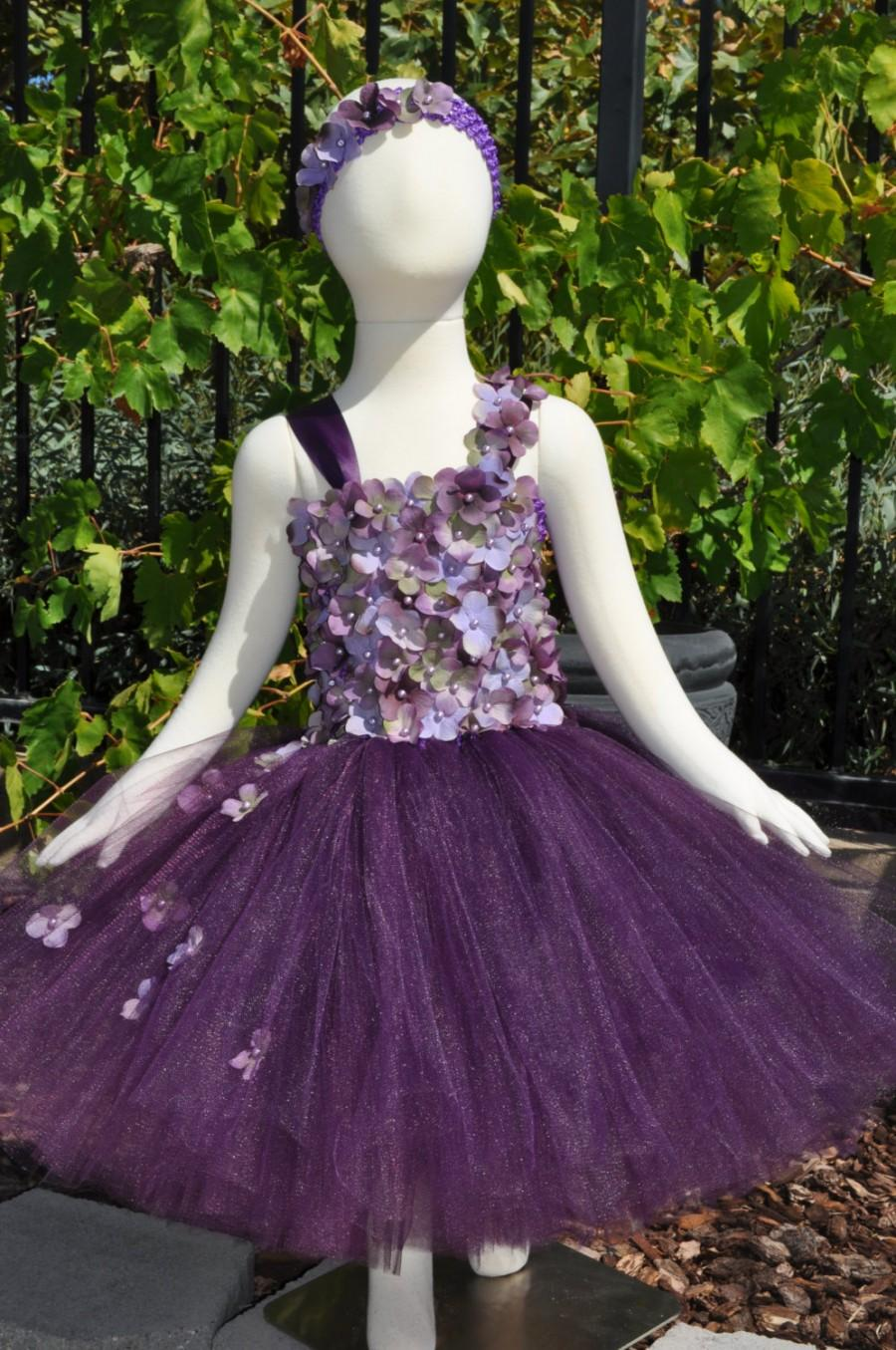 Свадьба - Special Occasion Dress, Tutu Dress, Flower Girl Dress, Infant Dress, Plum Lavender Dress, Purple Dress, Baby Dress, Plum Flower girl Dress