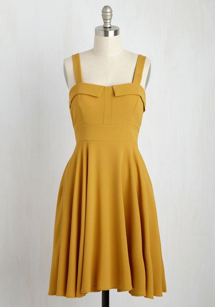 Hochzeit - Pull Up A Cherry Dress In Marigold