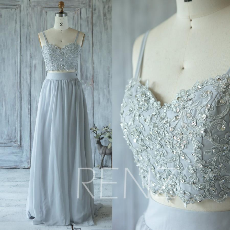 Wedding - 2016 Light Gray Bridesmaid Dress with Beading, Sweetheart Wedding Dress, Spaghetti Straps Formal Dress, Long Prom Dress Floor Length (X004)