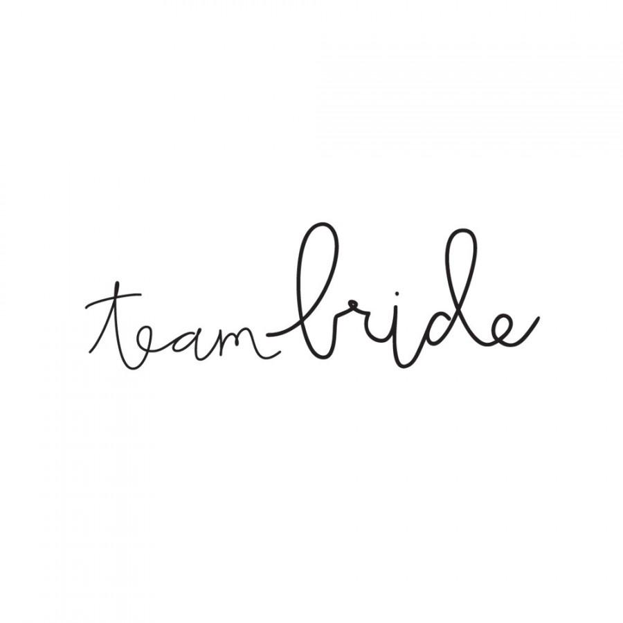 Wedding Temporary Tattoos Team Bride Bachelorette Party Favors Spirit Bridal Tatoos