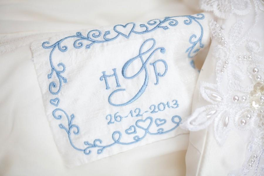 Mariage - Personalised Wedding Dress Label - Something Blue Ideal - Sentimental Bride Gift