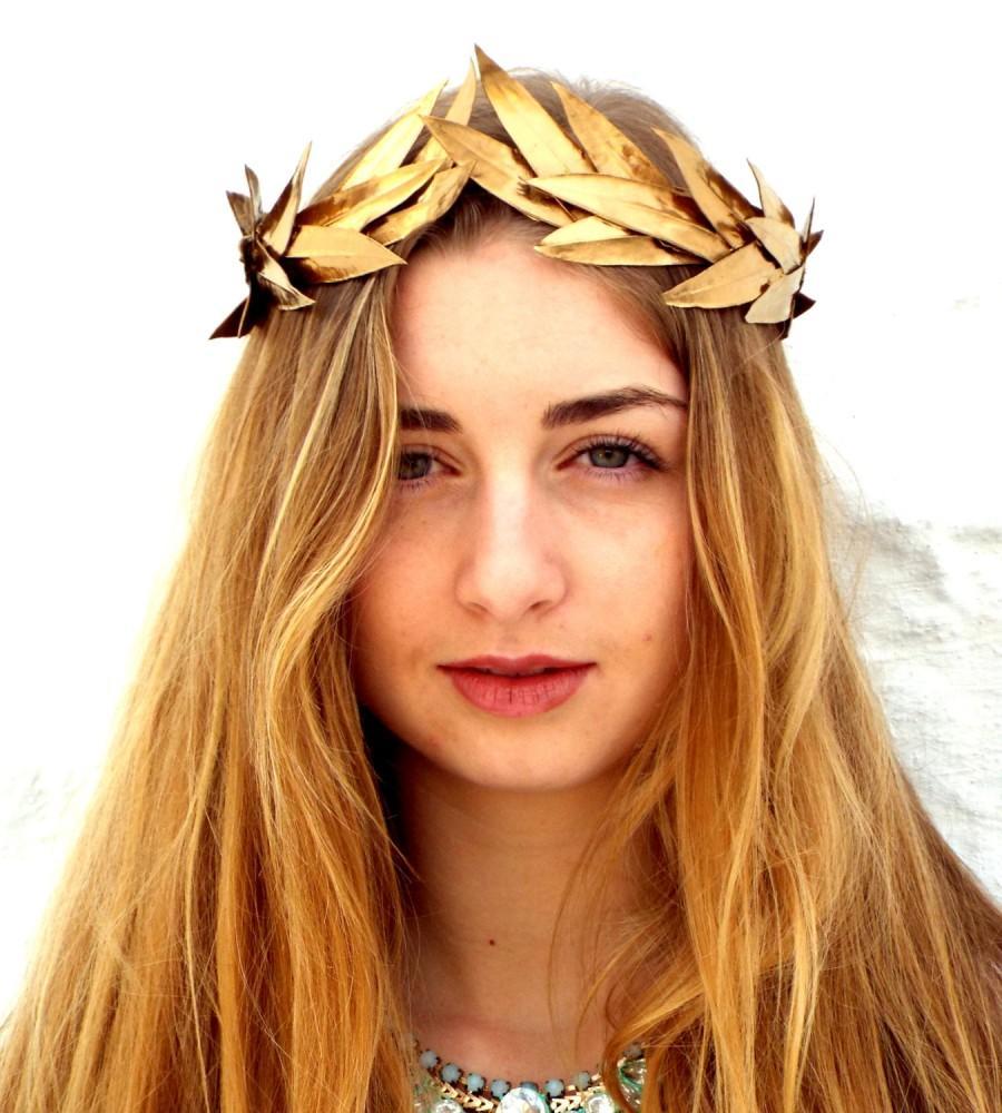 Gold Leaf Crown, Gold Headband, Woodland Headpiece, Greek ...