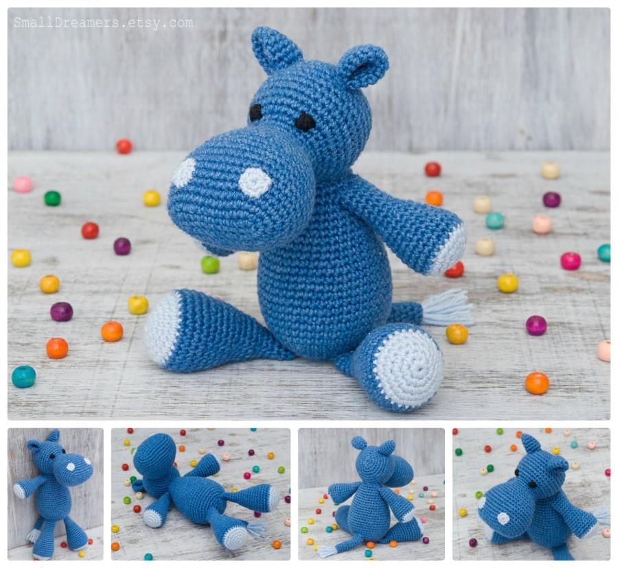Amigurumi Hippopotamus - A Free Crochet Pattern - Grace and Yarn | 828x900