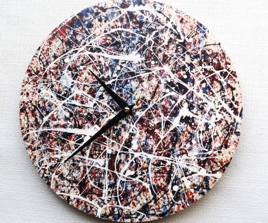 Wedding - Wall Clock, Trending, Minimalist Wall Clock, Home and Living, Unique Wall Clock, abstract acrylics