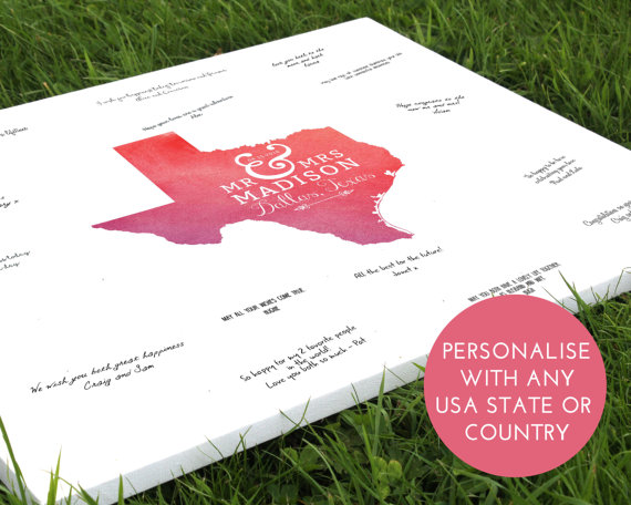 Modern Guest Book Ideas Wedding Map Getting Married Abroad Guestbook Overseas Unique