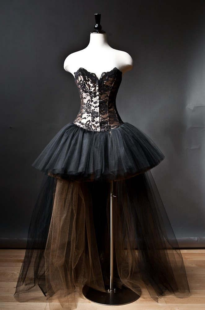 Свадьба - Alternative Fashion Black Romantic Gothic Corset High-Low Prom Dress
