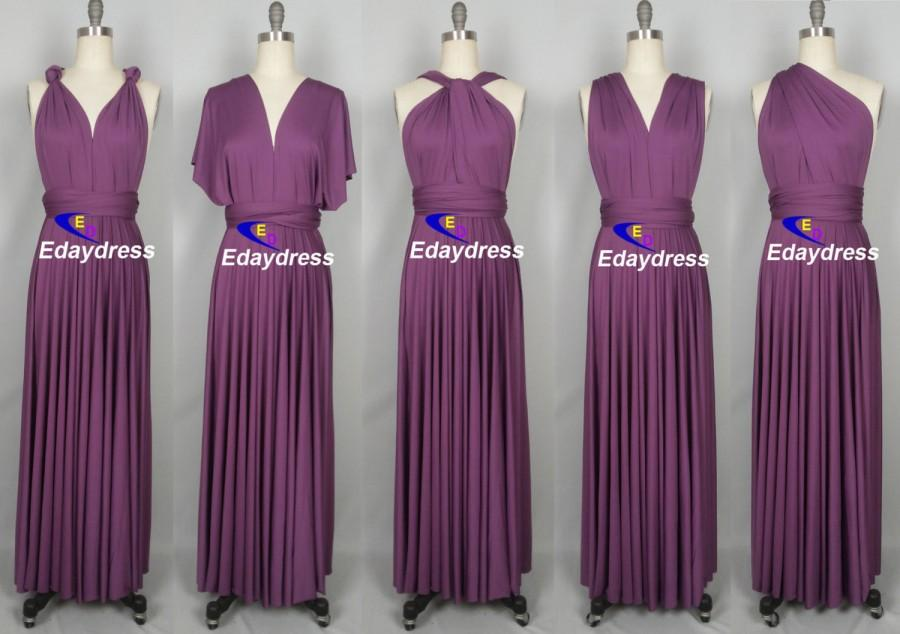 0e305beccb1b Sunset Purple Floor Length Long Maxi Infinity Dress Convertible Formal Multiway  Wrap Dress Bridesmaid Dress Party dress Evening Dress