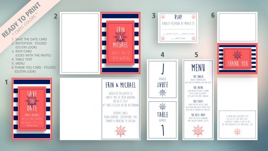Mariage - Ocean - Wedding Set (six elements)