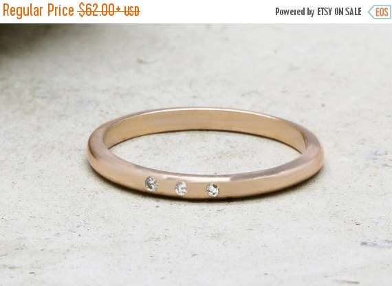 زفاف - SUMMER SALE - Pink rose gold ring,engagement ring,gemstone ring,diamond ring,stacking ring,tiny stone ring,thin ring,simple gold ring