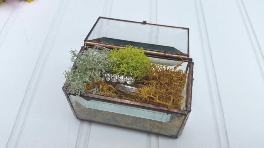 زفاف - Glass Treasure Box - Rectangle Ring Box