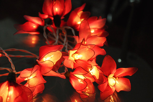Mariage - 20 Bulbs Handmade Pink flower string lights for Patio,Wedding,Party and Decoration