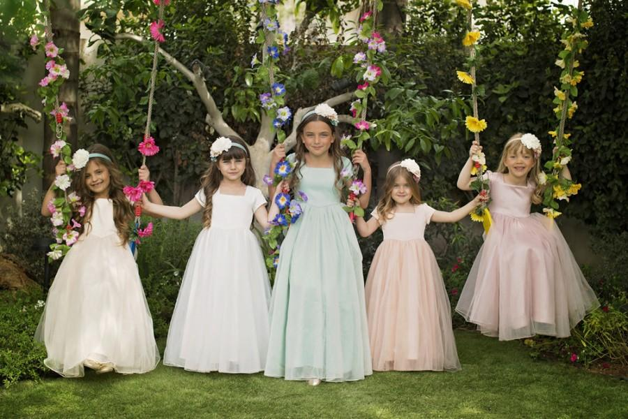 Mariage - Mum's Girl Flower Girl Dress Sarah - Apricot