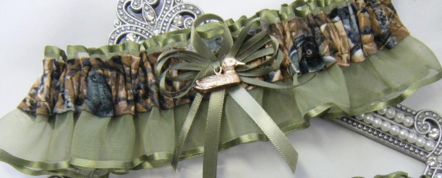 Duck Hunting Camouflage Wedding Garter Keep Duck Camo Garters Moss