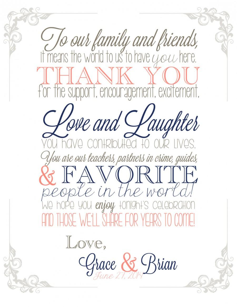 Свадьба - Harborside Suite, Wedding Thank You Sign, Digital PDF or FREE SHIPPING, Guest Thank You For Celebrating With Us, Reception Thank You Sign