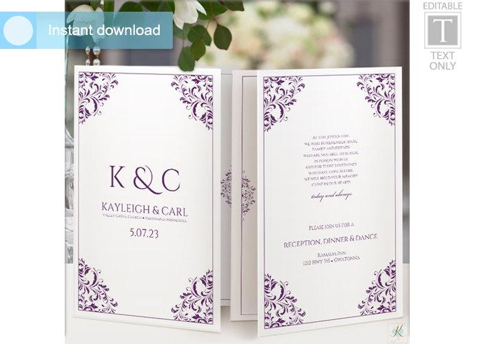 Wedding program template foldover booklet 2558579 weddbook wedding program template foldover booklet maxwellsz