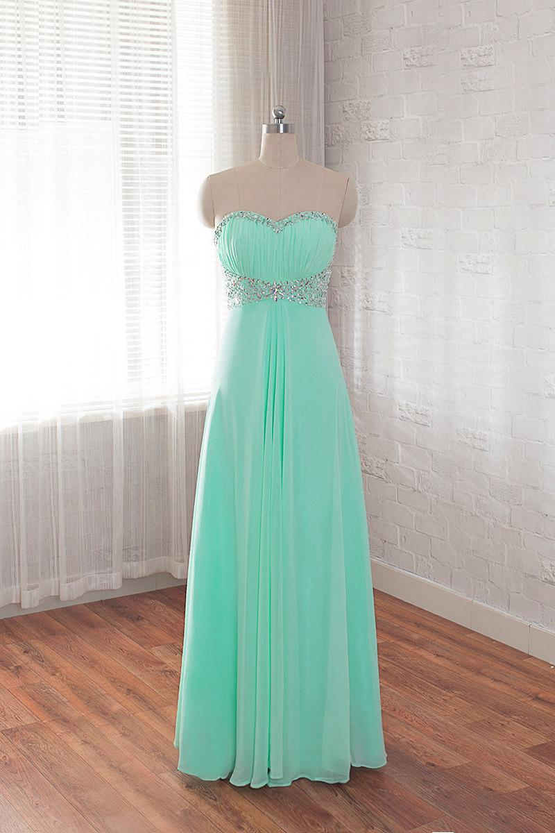 Mariage - chiffon prom dress, long homecoming dress, Sweetheart formal dress