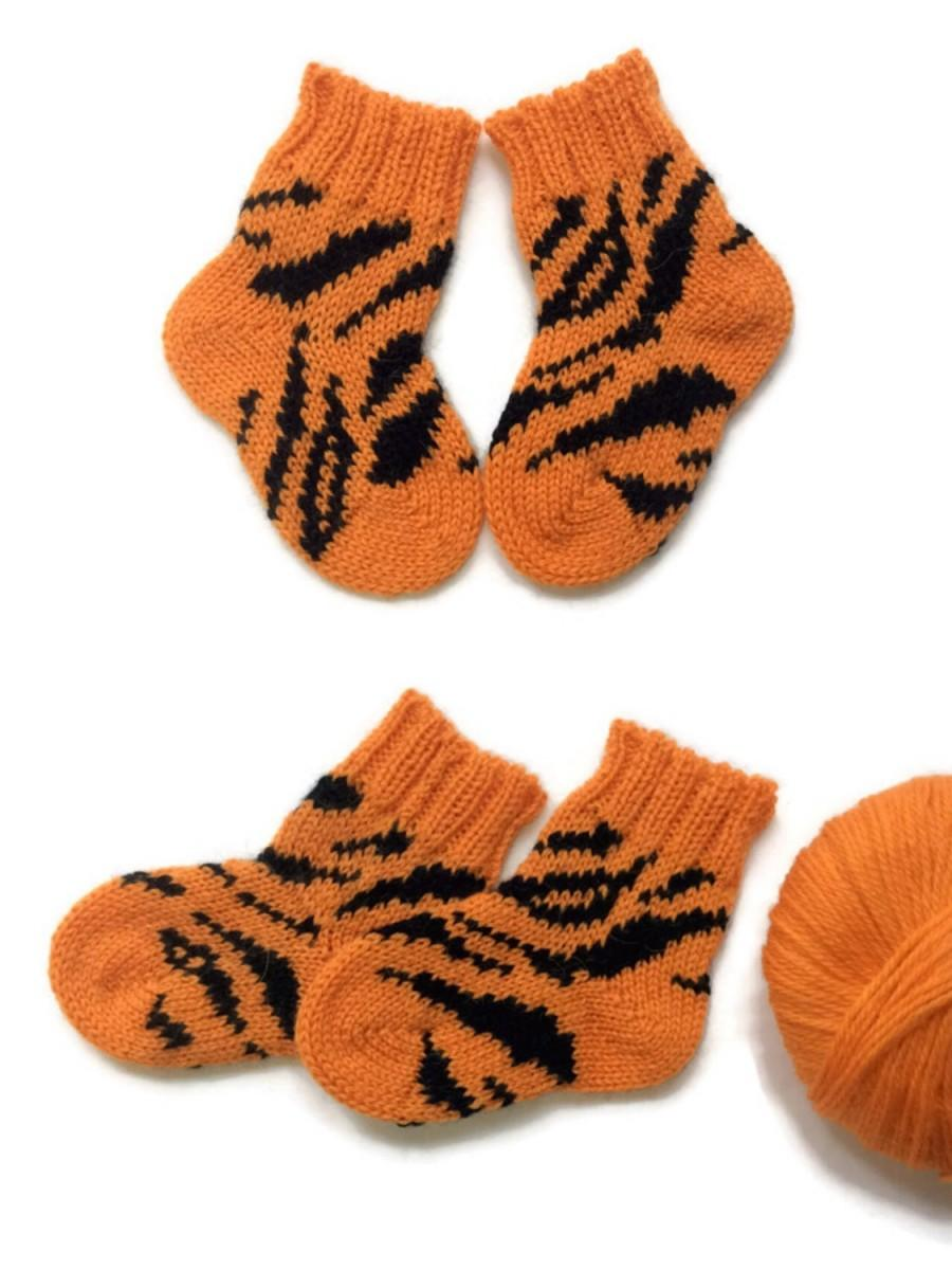 efc53bcbb330 Wool Socks Children s Knitted Baby Alpaca Socks Orange Winter ...