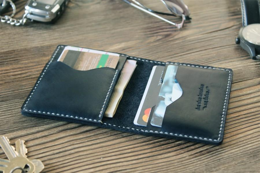 Credit Card Wallet Mens Wallet Graduation Gift For Him Personalized