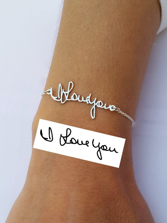 Mariage - Memorial Bracelet - Personalized Signature Bracelet - Handwriting Jewelry - Sterling Silver