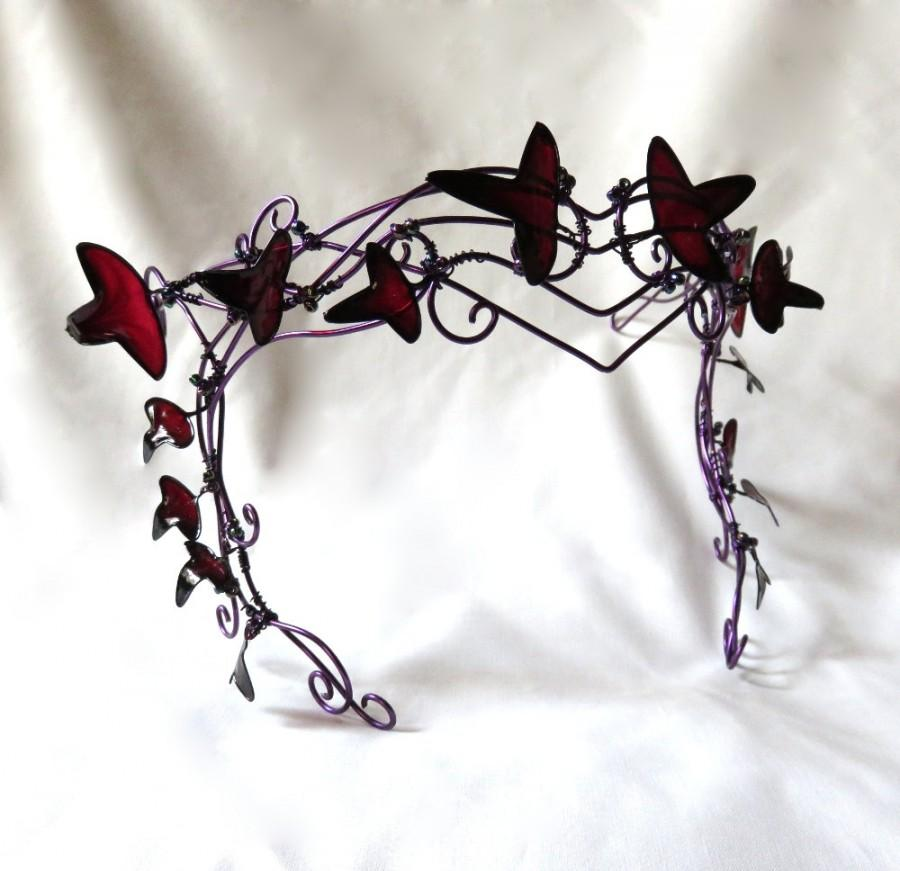 Purple Vine Circlet With Leaves, Womens Mask, New Years Masked ...