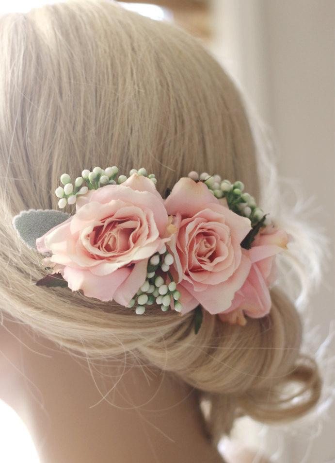 زفاف - wedding hair accessories, flower hairpiece, Bridal hair accessories, wedding headpiece, flower hair comb, wedding hair comb