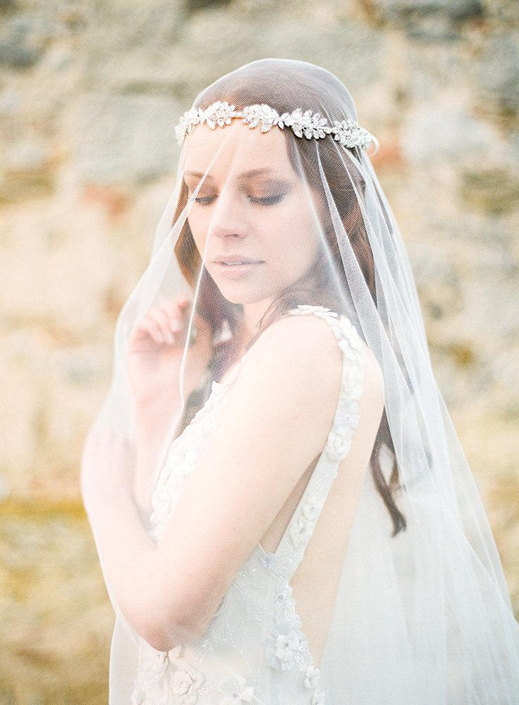 Свадьба - Wedding, Bridal Adornment, Crystal Rhinestone Bridal Headband - Style 319