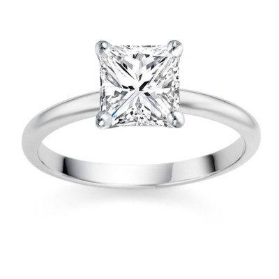 Conflict Free 0 25 Carat Princess Cut Natural Diamond Solitaire Engagement Ring Simple And Beautiful