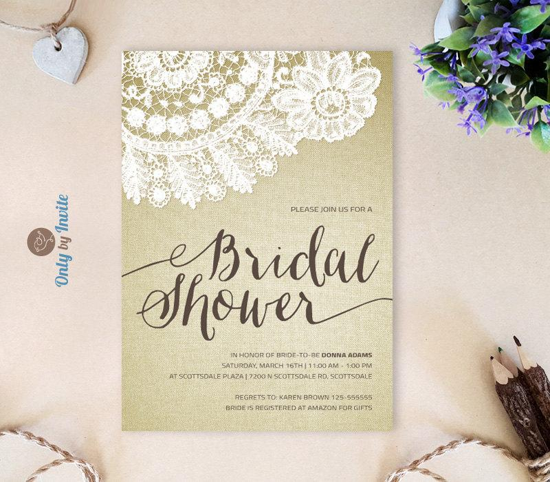 Invitation Printed Bridal Shower Invitation Cheap 2558964