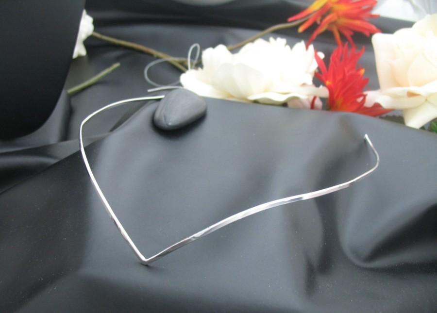 Свадьба - Simple Wedding Circlet Headpiece, Elvish, Sterling Silver, 925, LOTR inspired Circlet, Handmade, OOAK