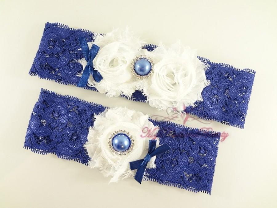 Wedding - Bridal Garter, Garter, Wedding Garter, White Shabby Chic Flower Garter, Handmade Garter Belt, Sexy Garter Set, MRB Bridal Garter GTF0011