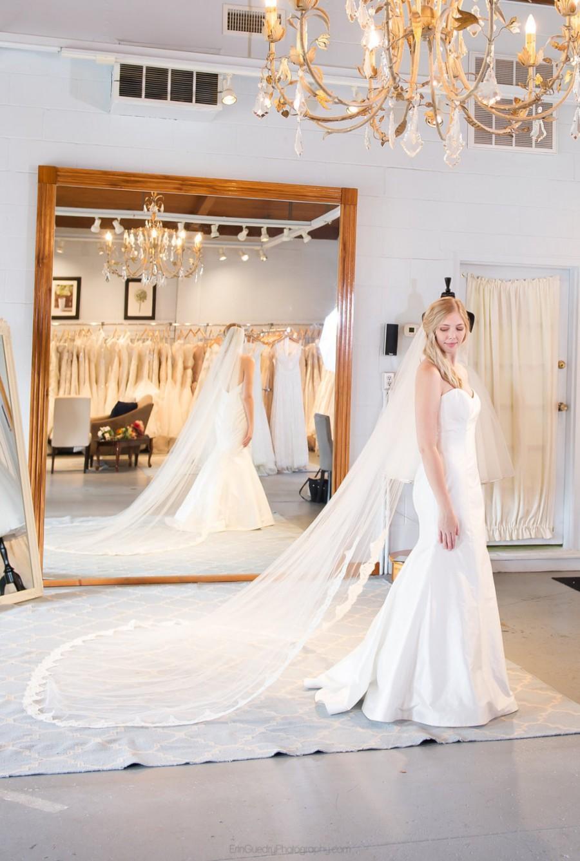 """زفاف - Alencon Lace Ivory Cathedral wedding veil """"Nicole"""""""